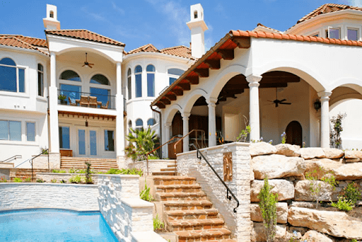 home exterior backyard swimming pool